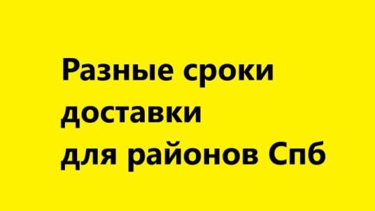 DBS: разные сроки доставки для отдельных районов Санкт-Петербурга